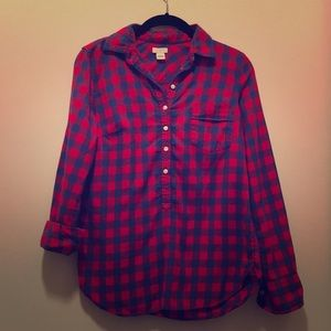 J. Crew Button up Flannel